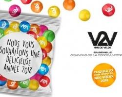 Toute l'équipe V2V vous souhaite une délicieuse année 2018 !